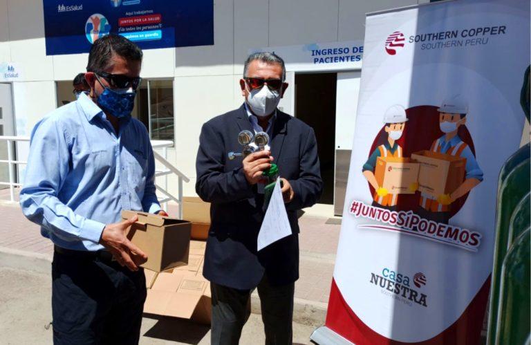 Southern Peru entregó implementos y balones de oxígeno a Salud Moquegua