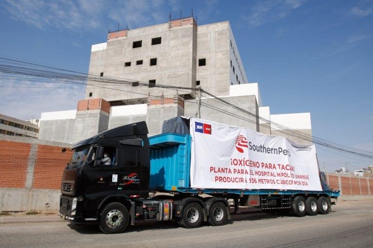 Southern Peru entregó planta de oxígeno para el hospital regional Hipólito Unánue