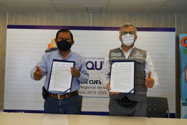 GORE Moquegua y CENEPRED firman convenio de colaboración interinstitucional