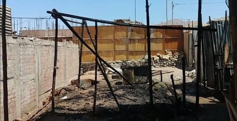 Incendio consume cocina de vivienda en el centro poblado San Antonio