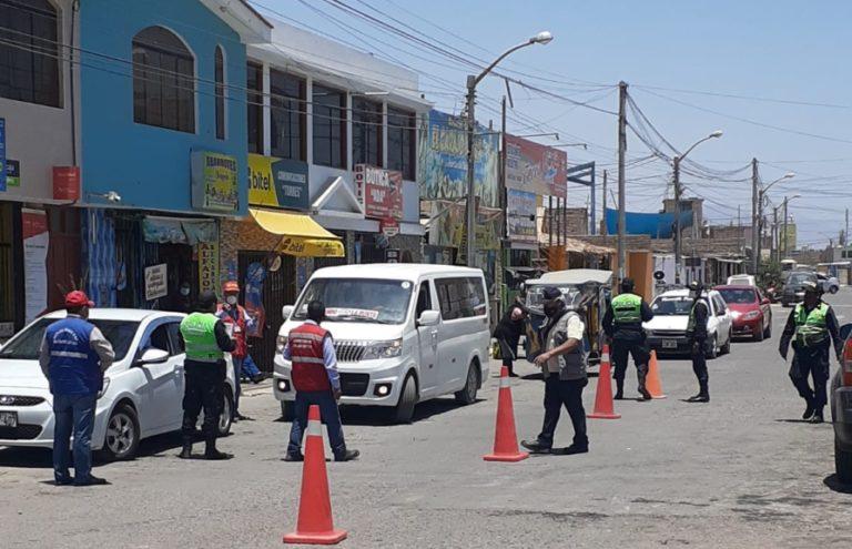 Intervienen unidades vehiculares en Punta de Bombón