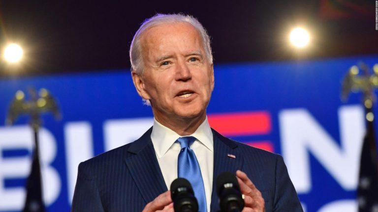 Biden: «Me honra que me hayan elegido para dirigir a nuestro gran país»