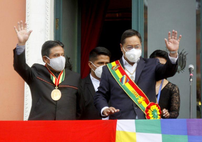 Luis Arce fue investido como nuevo presidente de Bolivia
