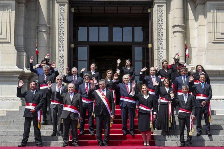 Estos son los 18 ministros del Gabinete Ministerial liderado por Ántero Flores-Aráoz