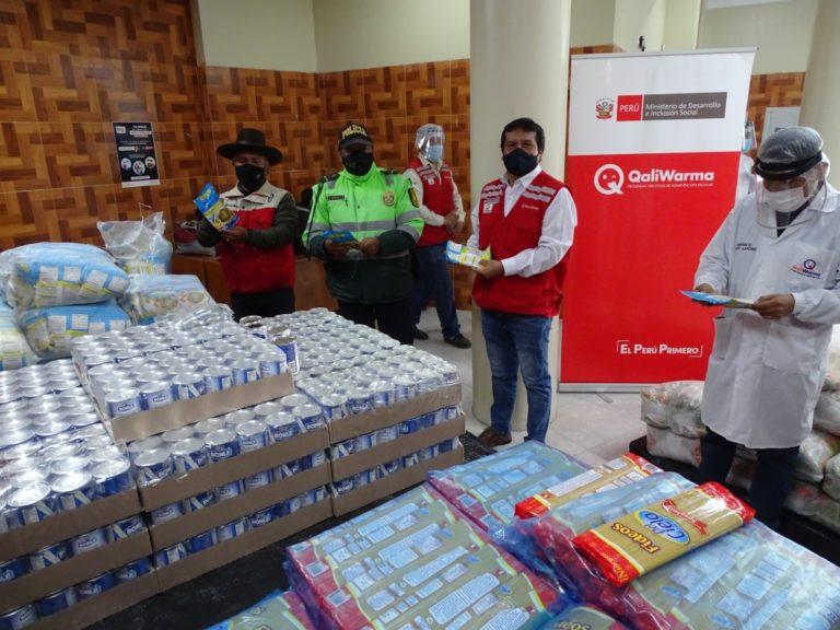 Municipalidades de Torata, Samegua, Cuchumbaya y Lloque recibieron 56 toneladas de alimentos