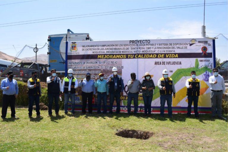 Obra de saneamiento mejorará calidad de vida de habitantes del valle de Moquegua