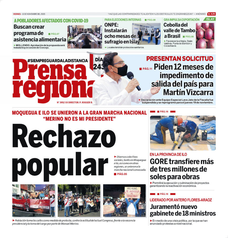 La Prensa Regional – Viernes 13 de noviembre del 2020