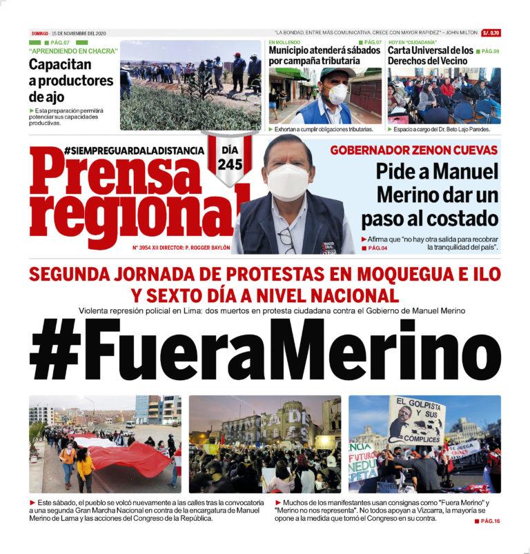 La Prensa Regional – Domingo 15 de noviembre del 2020