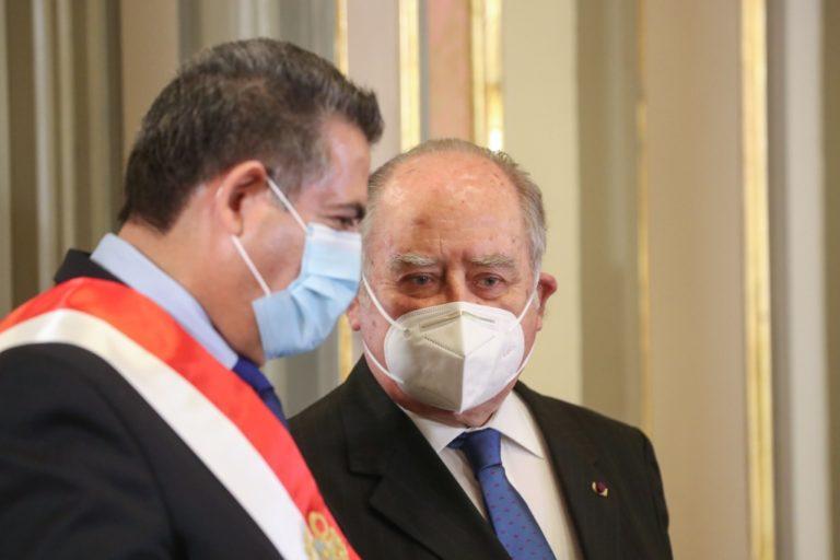 Premier Flores-Aráoz sobre eventual renuncia de Manuel Merino: «No tengo la más remota idea»