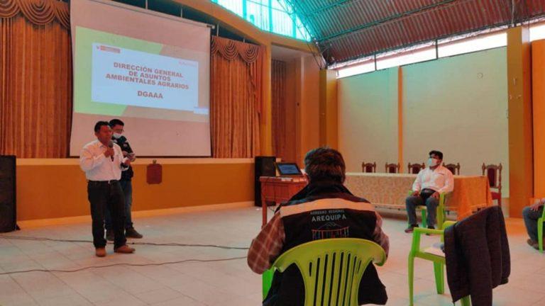 Presentan proyecto de estudio de suelos para zonificación agroecológica del valle de Tambo