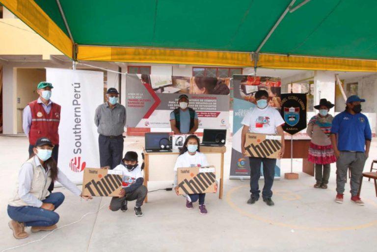 Laboratorio de cómputo fortalece educación de niños en Coraguaya
