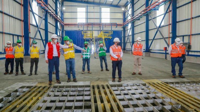 Ministro de Transportes inspeccionó obra de minera Hudbay en el puerto de Matarani