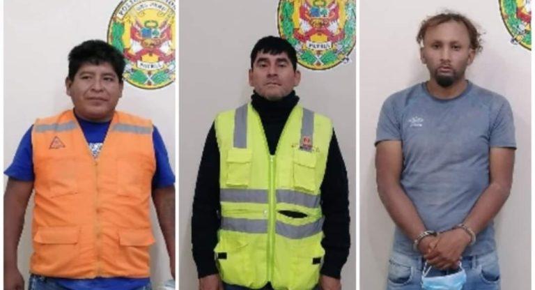Policía captura a banda tras robar 40 mil soles y joyas a familia en Omate
