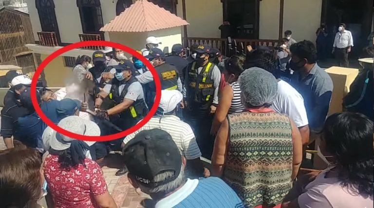 Periodista sufre agresión de un sereno en subasta de playas en Mollendo