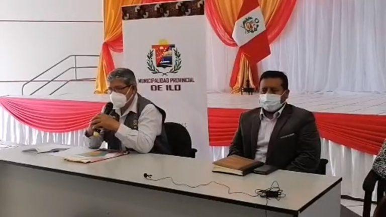 Alcalde de Ilo y El Algarrobal brindan conferencia de prensa de trabajo realizado en Lima