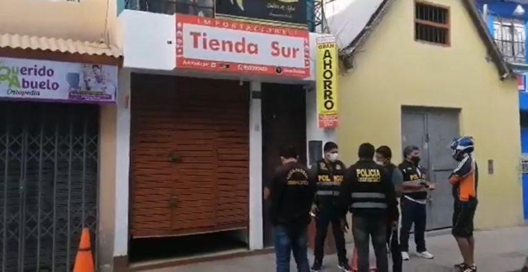 Roban celulares y accesorios de local ubicado en calle Piura
