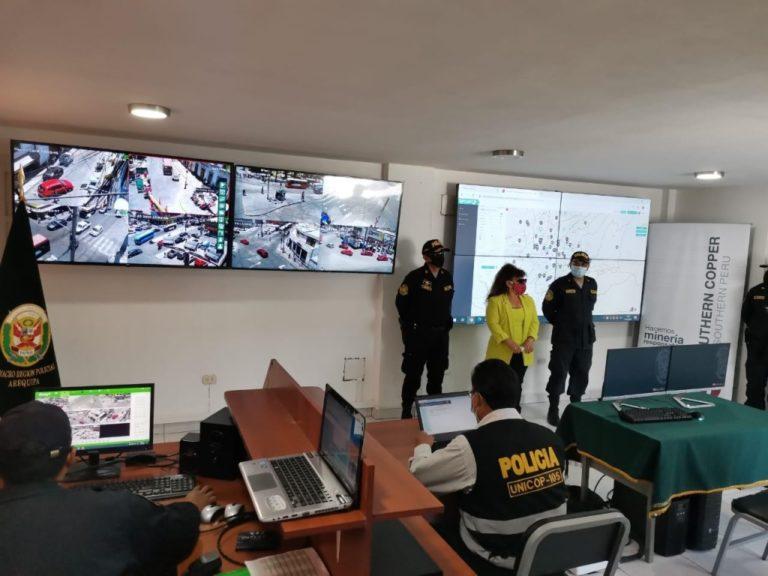 Modernizan sistema de vigilancia de la PNP en Arequipa