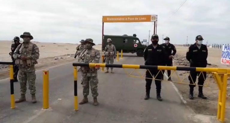 Ejército y PNP no permite el ingreso de gente a playas