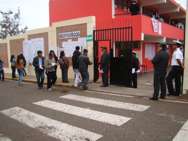 Arequipa: Más de 80 mil ciudadanos eligieron local de votación cerca de su domicilio