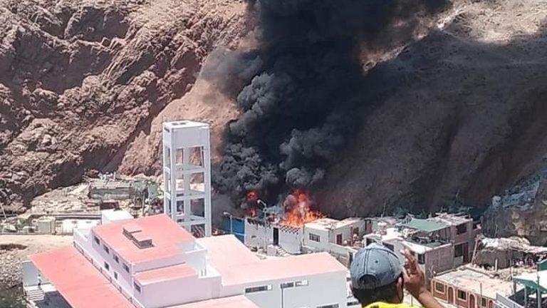 Explosión en grifo de Quilca produjo dantesco incendio