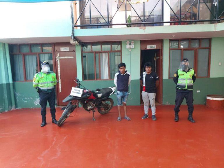 Serenos recuperan moto robada en Deán Valdivia