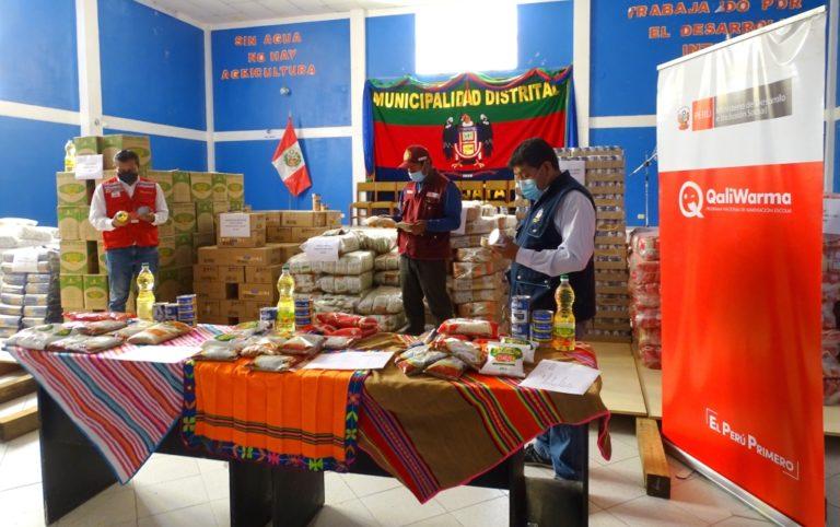 Municipalidad de Chojata recibe 9.7 Tn de alimentos de Qali Warma
