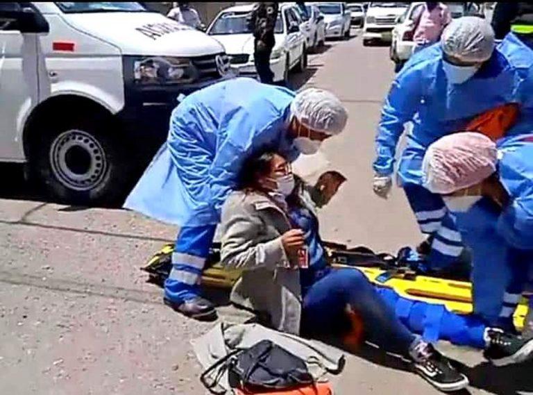 Trabajadora de entidad bancaria queda mal herida tras ser impactada la moto lineal que conducía
