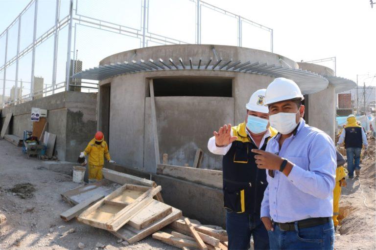 Obra de construcción de Parque Temático supera el 58% de avance físico