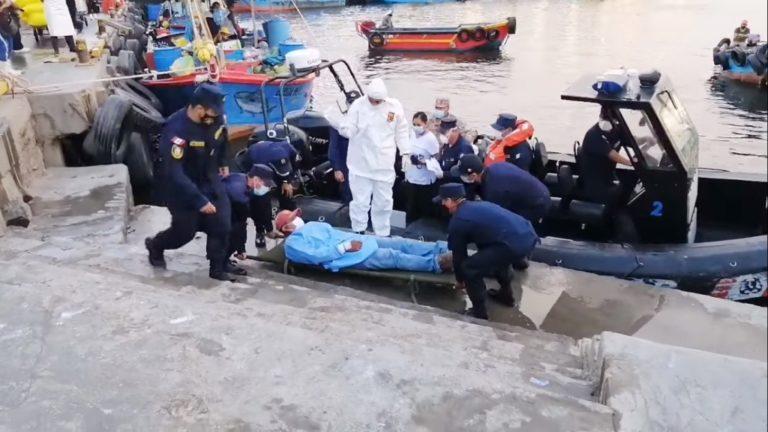 Capitanía de Puerto auxilió a pescador que presentaba problemas de salud