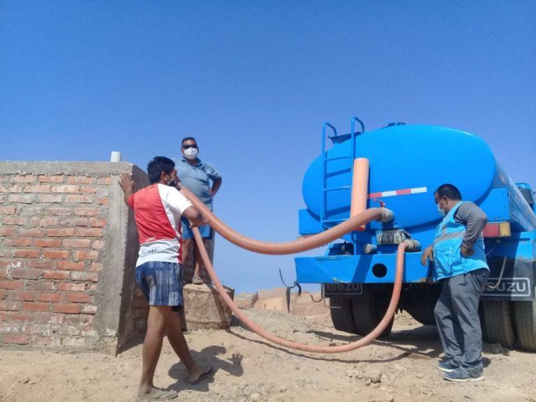 Continúa reparto de agua potable en zonas altas de Mollendo