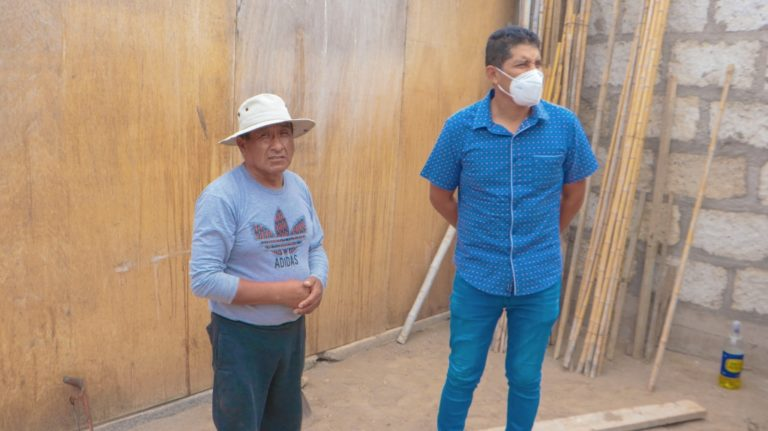 Municipio instala habitación a poblador en situación vulnerable