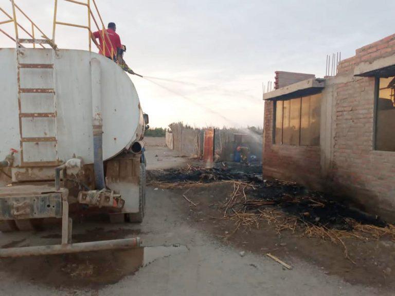 Registran incendio en precaria vivienda de Punta de Bombón