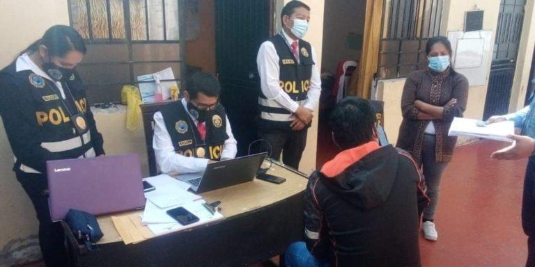 Intervienen a tres funcionarios de la Municipalidad Distrital de Yunga