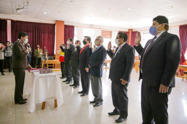 Juramentan nuevos miembros del Coresec Arequipa