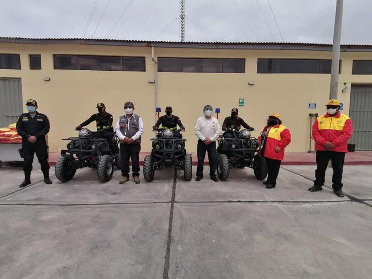 MPI entrega casacas a las Juntas Vecinales y cuatrimotos a Serenazgo