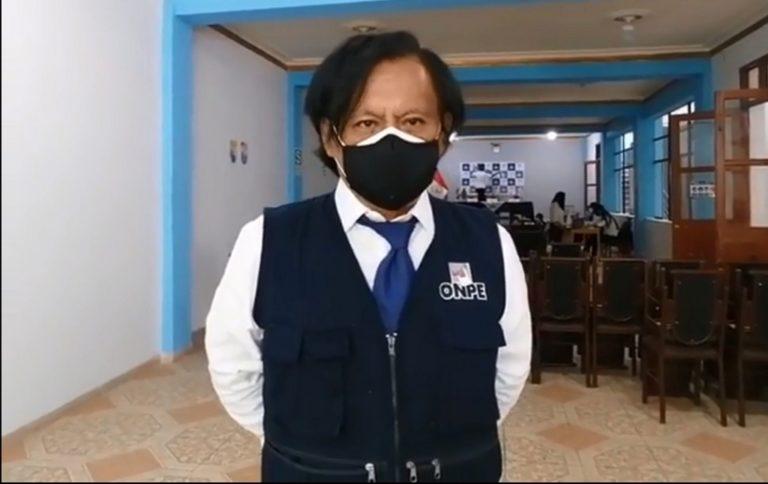Instalan oficina de la ODPE en Moquegua y sortean a miembros de mesa