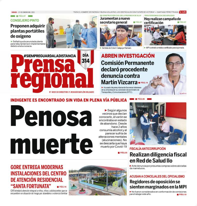 La Prensa Regional – Sábado 23 de enero del 2021