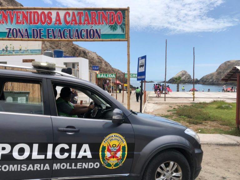 Policía de Mollendo continúa con imposición de papeletas a infractores de normas de bioseguridad