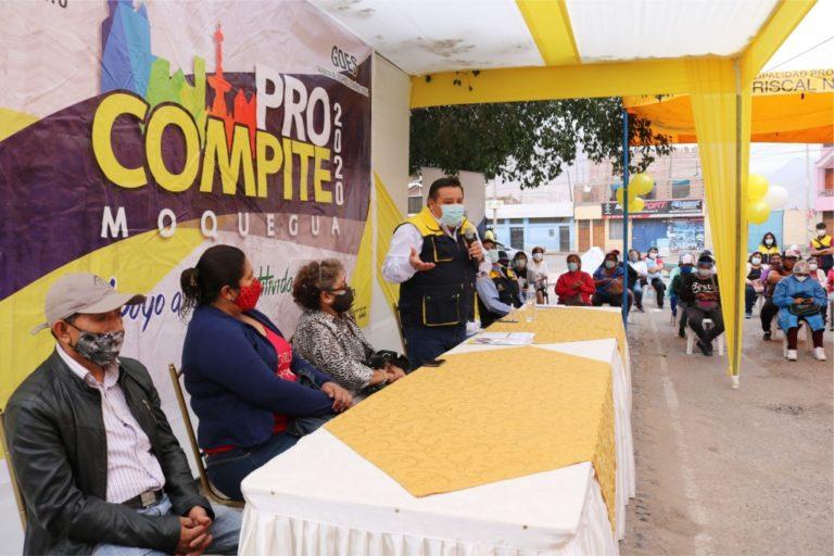Alcalde entregó bienes a dos ganadores de la cadena productiva de gastronomía de Procompite 2020