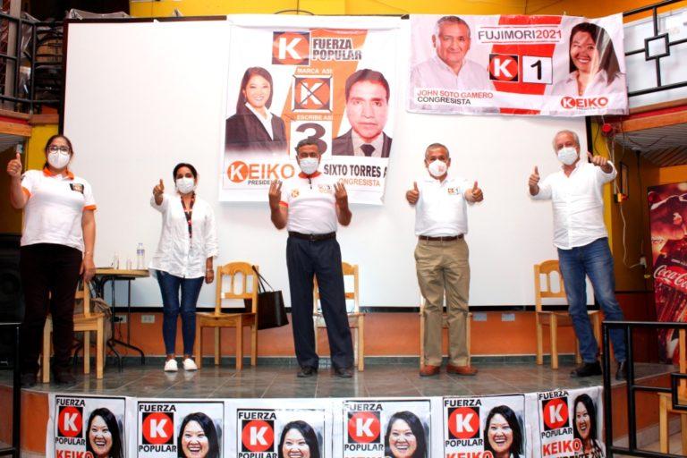 Líderes Fujimoristas llegan a Moquegua para presentar a sus candidatos al Congreso