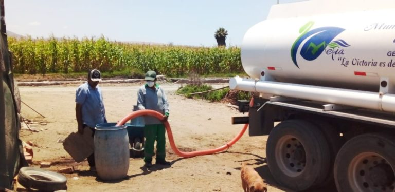 Reparten hasta 100 mil litros semanales de agua en Mejía