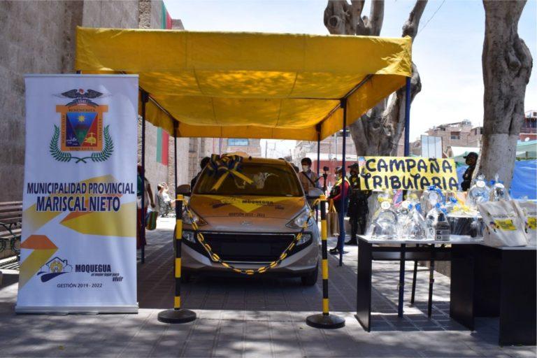 Hoy municipalidad de Moquegua sorteará automóvil 0 km