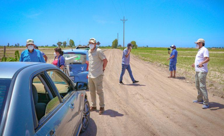 Supervisan trabajos finales de la carretera Granados-Pampas Nuevas