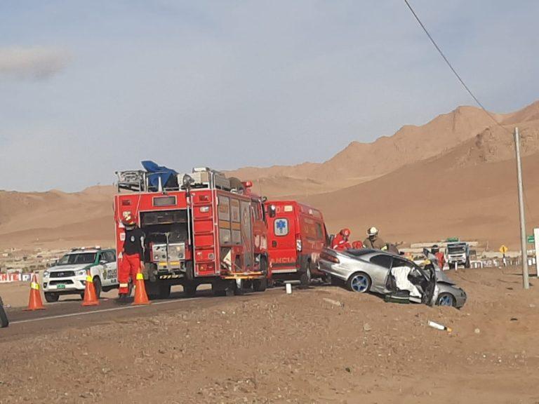 Tres resultan heridos tras violento accidente de tránsito