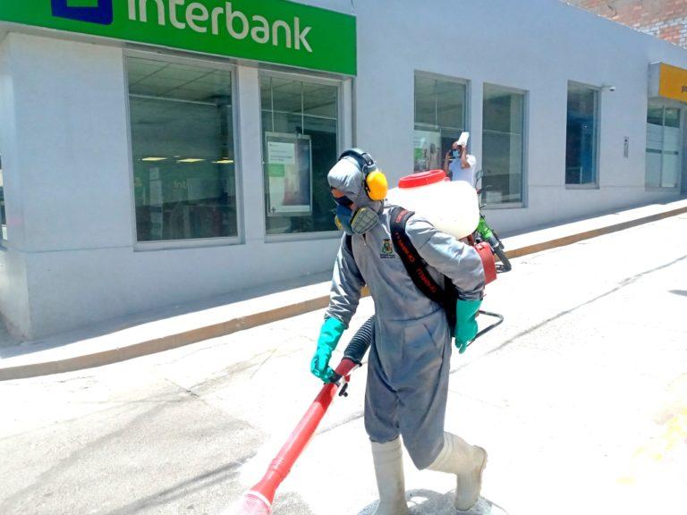 Municipio de Mariscal Nieto ejecuta plan de desinfección en calles de Moquegua