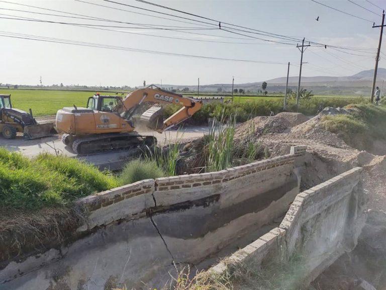 MPI apoya a junta de usuarios para atender emergencia en canal de agua
