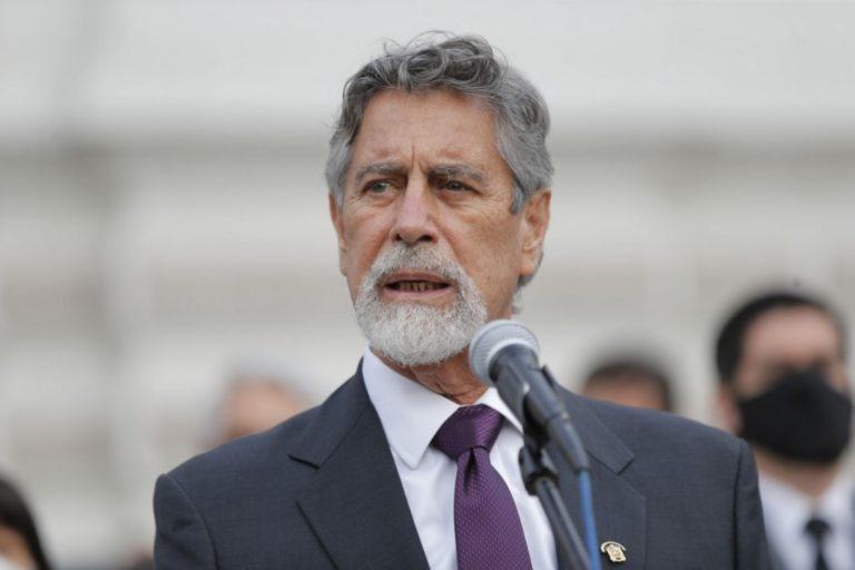 Congresista César Gonzales presentó una moción de censura contra Francisco Sagasti