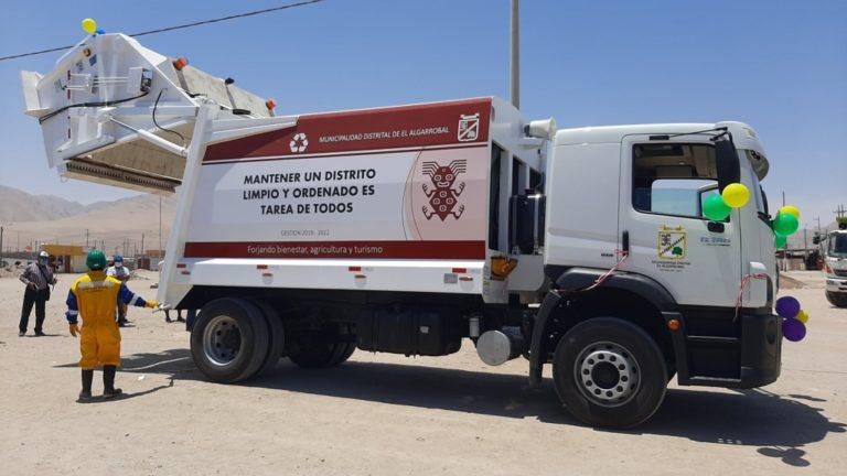 Municipio de El Algarrobal adquiere moderno camión compactador