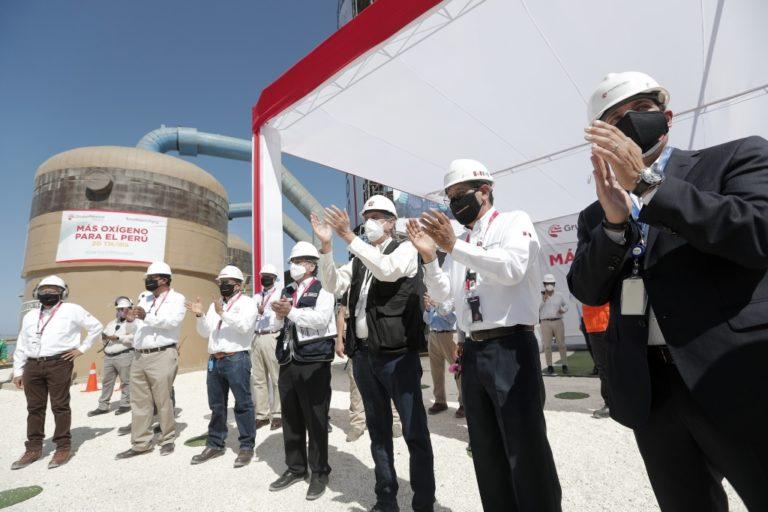 Más oxígeno: Presidente Sagasti presidió firma de convenio entre el MINSA y Southern Perú