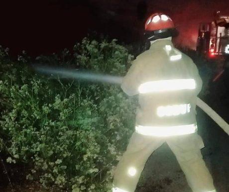 Controlan amago de incendio en la ruta La Curva-Mejía